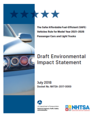 Belay Station - Articles (US Fuel Efficiency Rules - NHTSA EIS, July 2018)